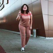 Calça jogger com faixa lateral