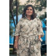 Camisa plus size nó estampada