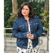 Jaqueta jeans plus size