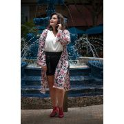 Kimono plus size Estampa Oriental