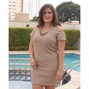 Vestido Com Colar plus size