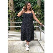 Vestido plus size sleep dress poá