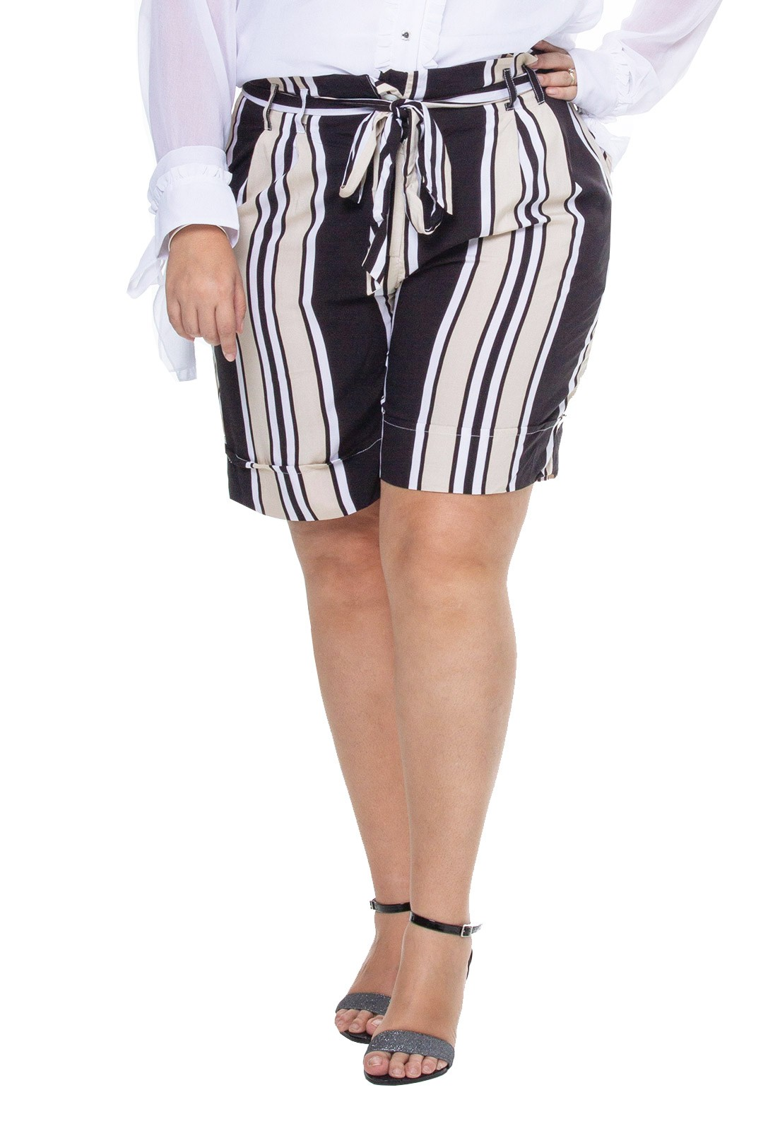 Bermuda plus size clochard listrada