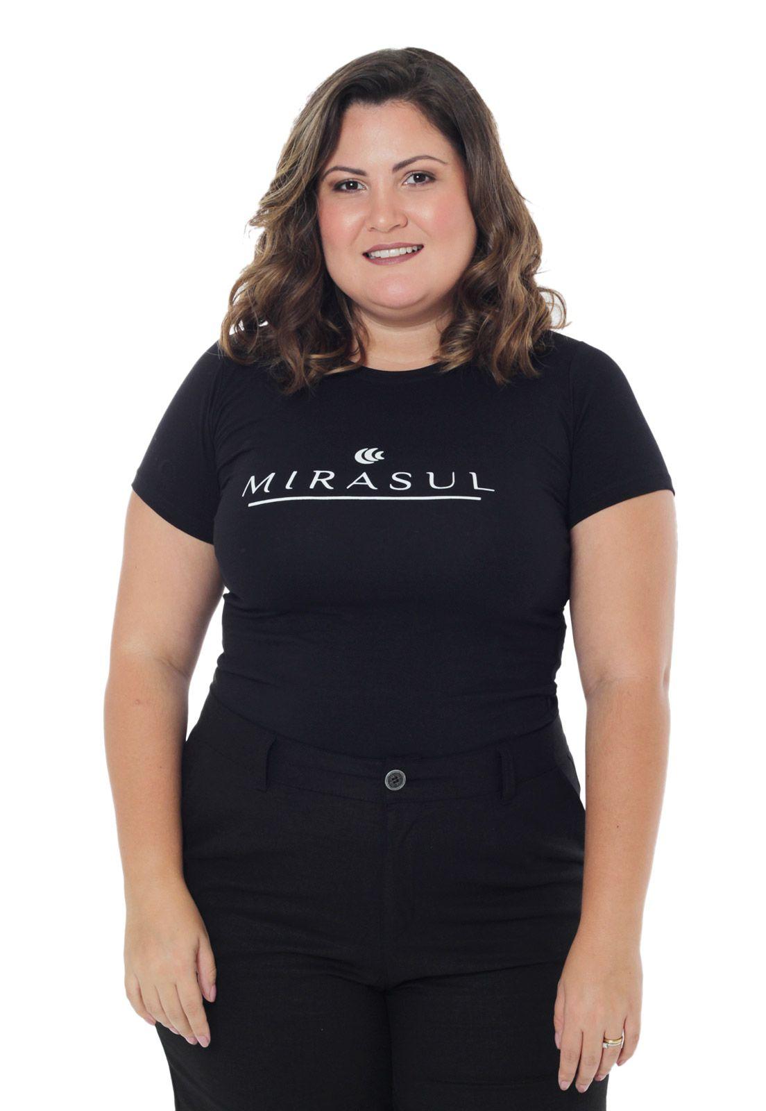 Blusa básica logo Mirasul plus size