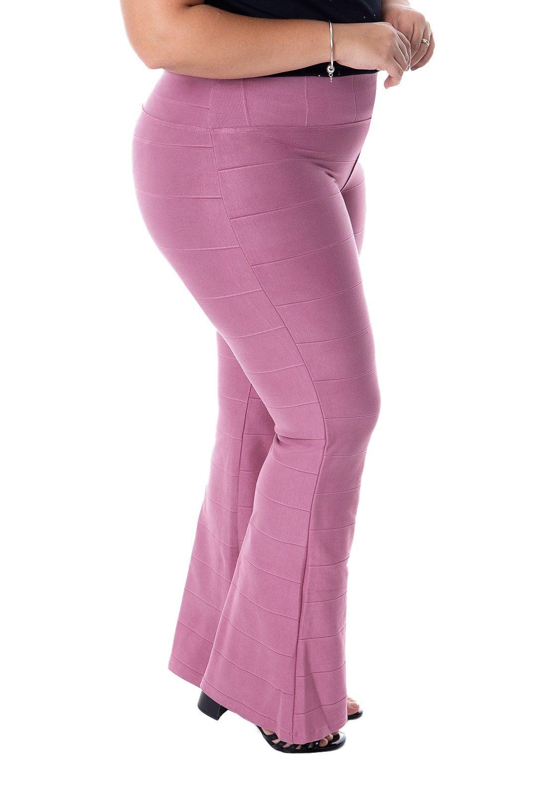 Calça bandagem plus size rosé