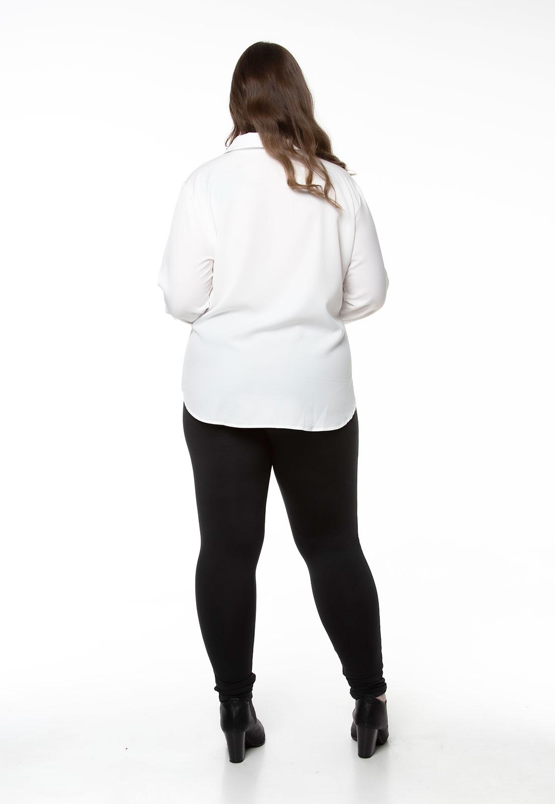 Camisa branca lisa com elastano
