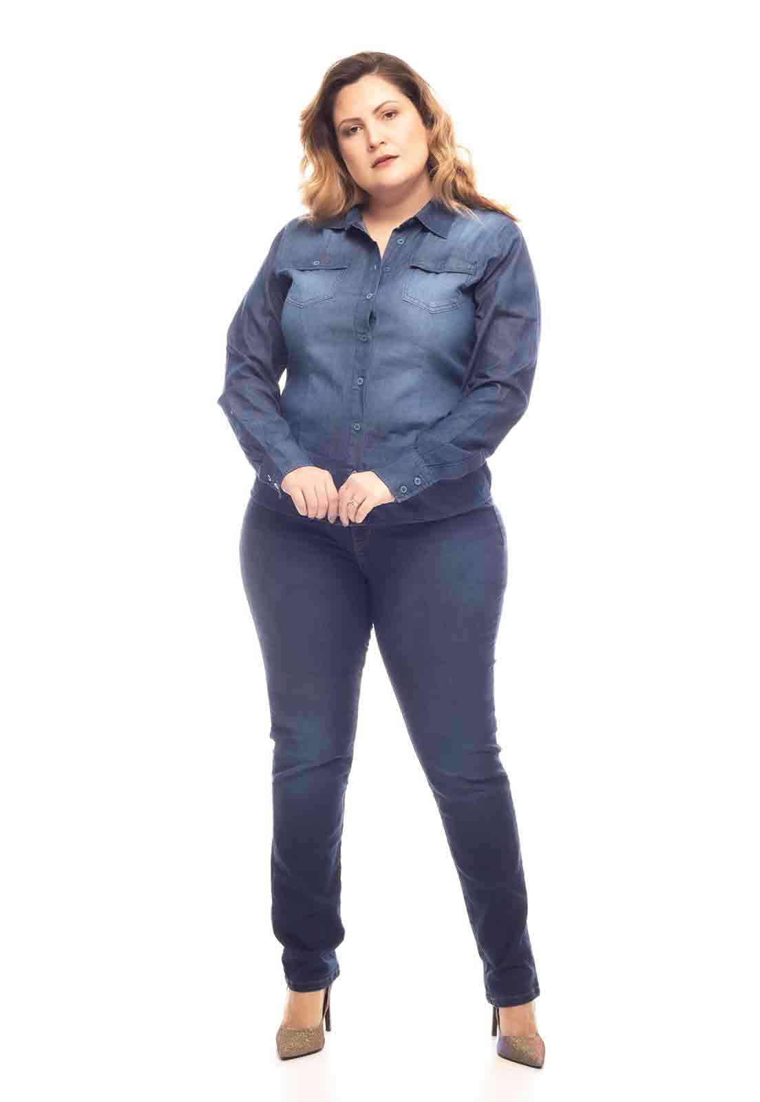 Camisa jeans escura