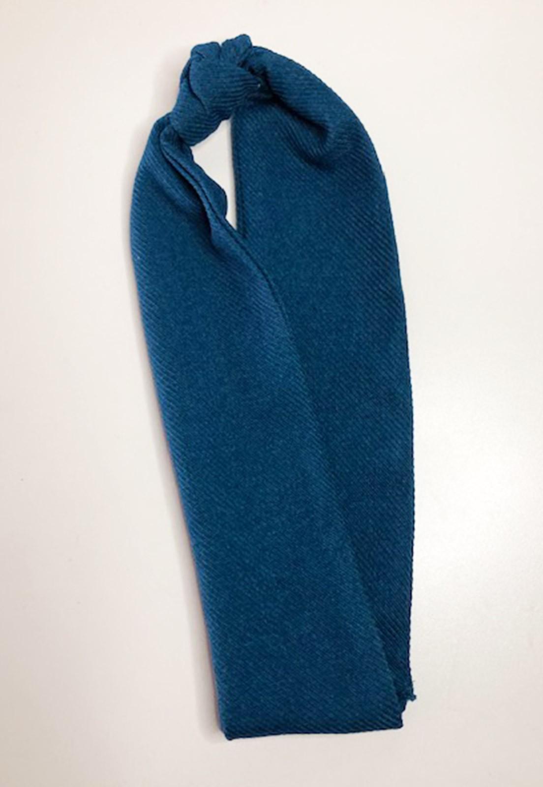 Faixa de cabelo nózinho azul