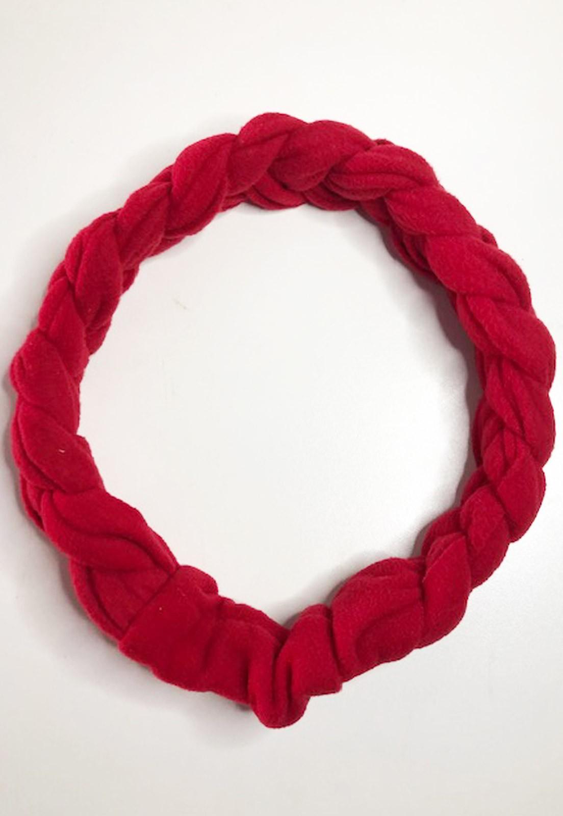 Faixa de cabelo trança vermelho