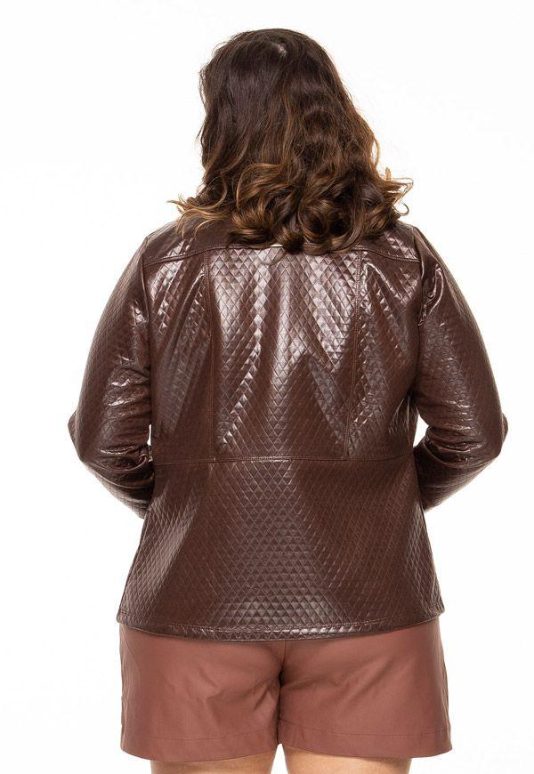 Jaqueta plus size sublime marrom
