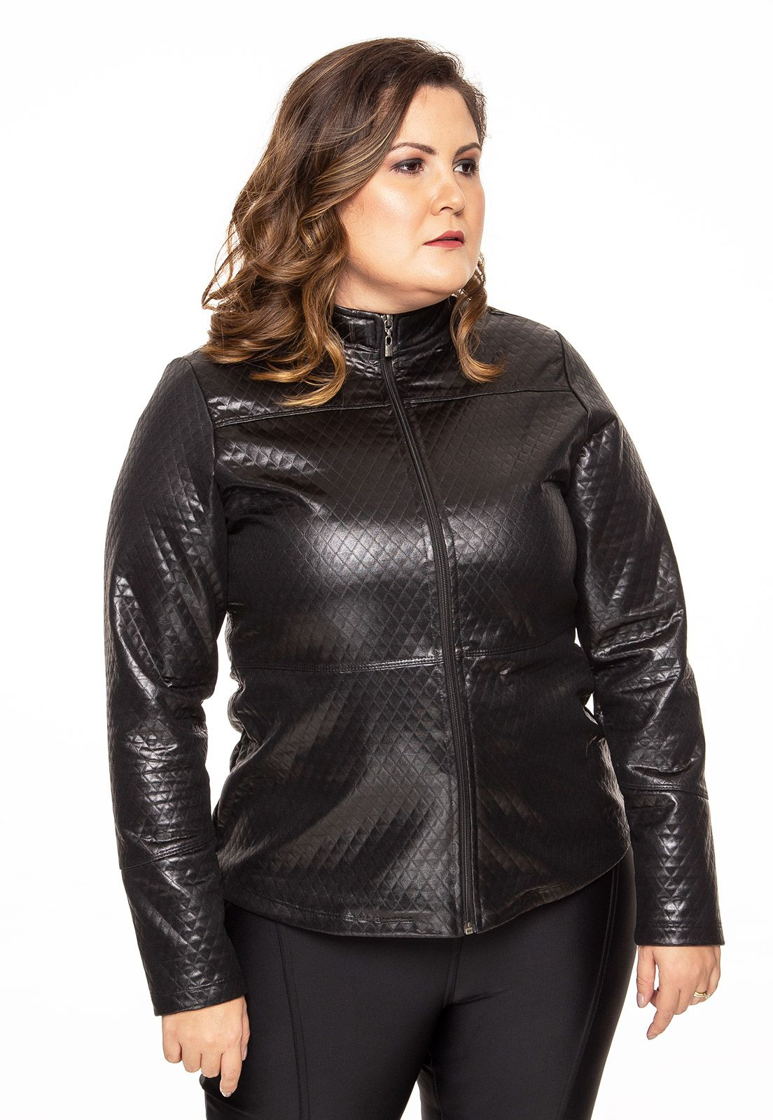 Jaqueta plus size sublime preto
