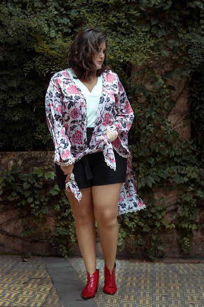 Kimono Estampa Oriental