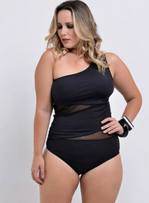 Maiô plus size body unique preto