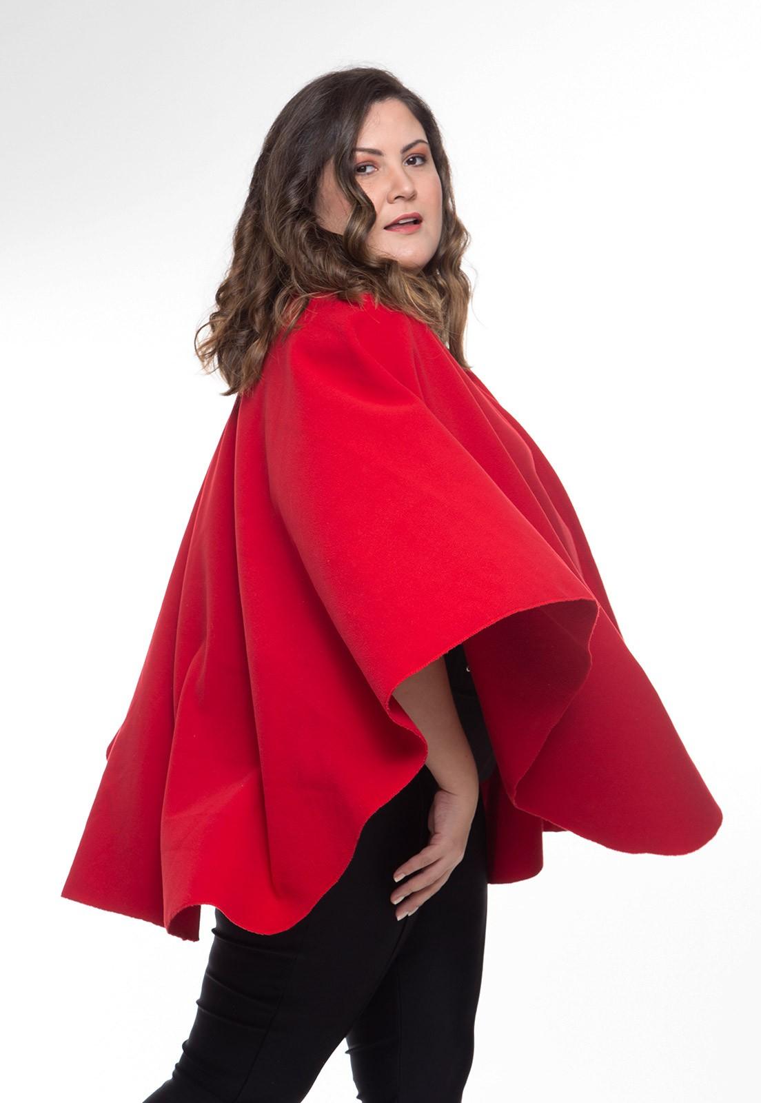 Pelerine em soft vermelho