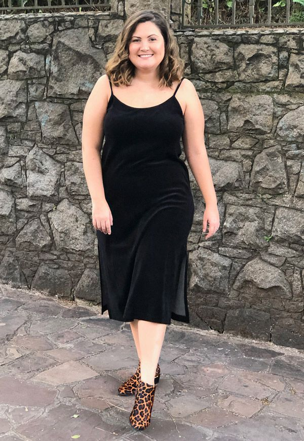 SLEEP DRESS PLUSH PLUS SIZE PRETO