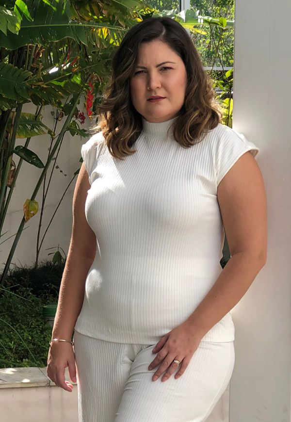TOP CANELADO PLUS SIZE BRANCO