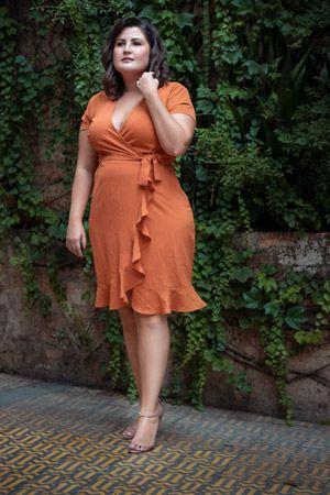 Vestido plus size Transpasse