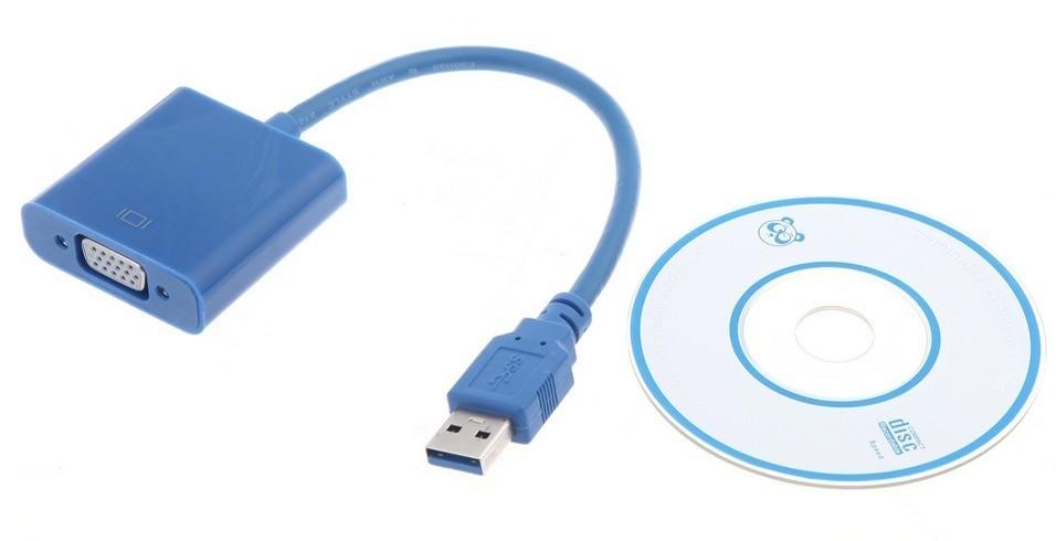 Cabo Conversor USB 3.0 para vga monitor