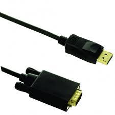 Cabo Displayport para VGA 1,80 Metros