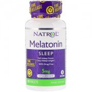 MELATONINA TIME RELEASE 5MG NATROL - 100 TABS