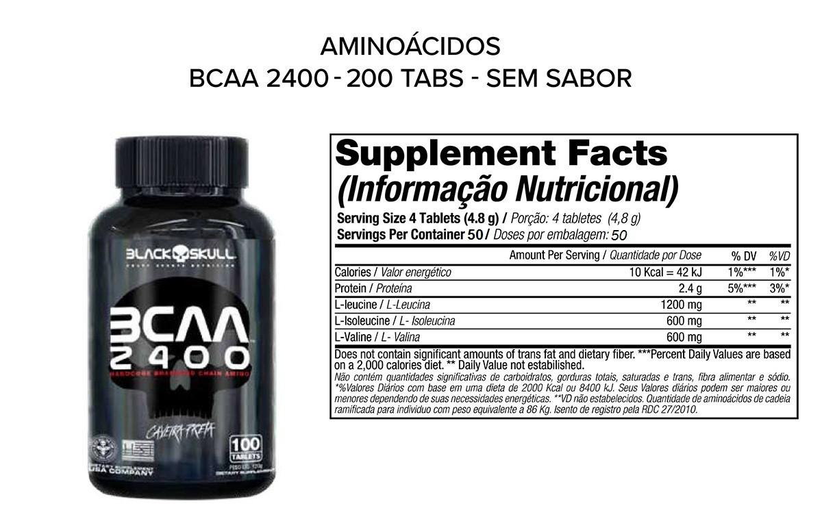 BCAA BLACK SKULL 2400 - 200 TABS
