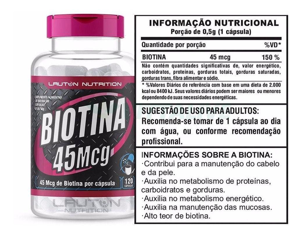 BIOTINA 45 mcg LAUTON NUTRITION - 120 CAPS