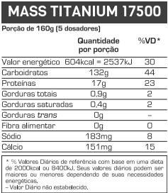 MASS TITANIUM 17.500 - 3KG