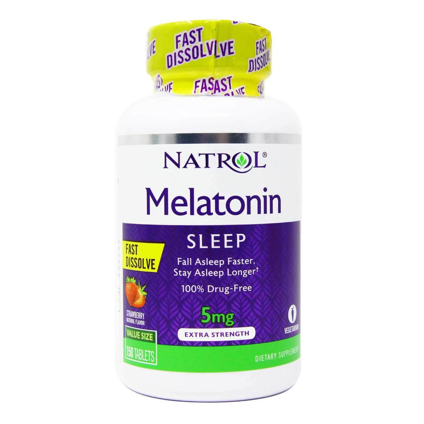 Melatonina   5 Mg   Dissolve na Boca   Natrol   150 Tbs