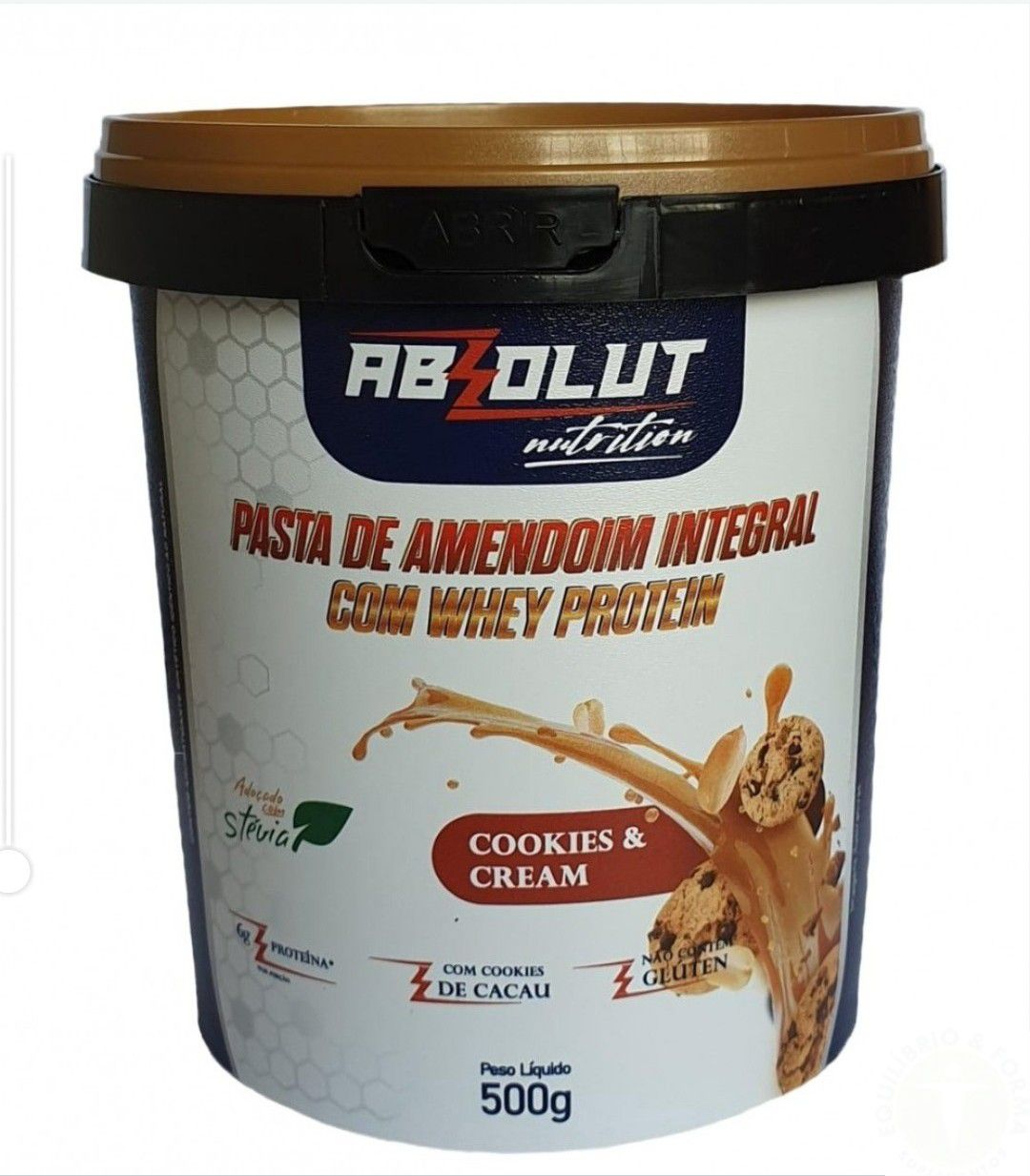 PASTA DE AMENDOIM GOURMET ABSOLUT NUTRITION - 1KG