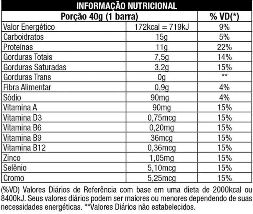 PROTOBAR  NUTRATA  (UNIDADE) - Chocolate meio amargo com recheio de morango