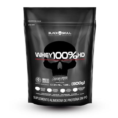 WHEY 100% HD BLACK SKULL (WPC, WPI E WPH) - 900G