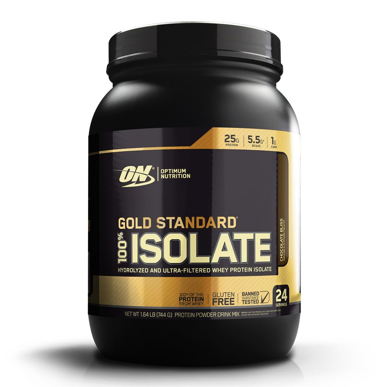 100% Isolate Gold Standard (744g/1.64lbs) - Optimum Nutrition