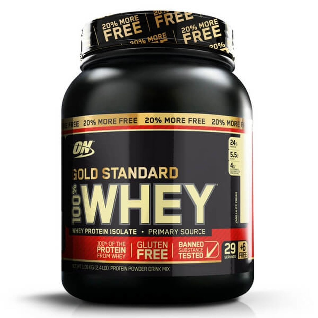 100% Whey Gold Standard 20% Free (2,4Lbs/1090g) – Optimum Nutrition