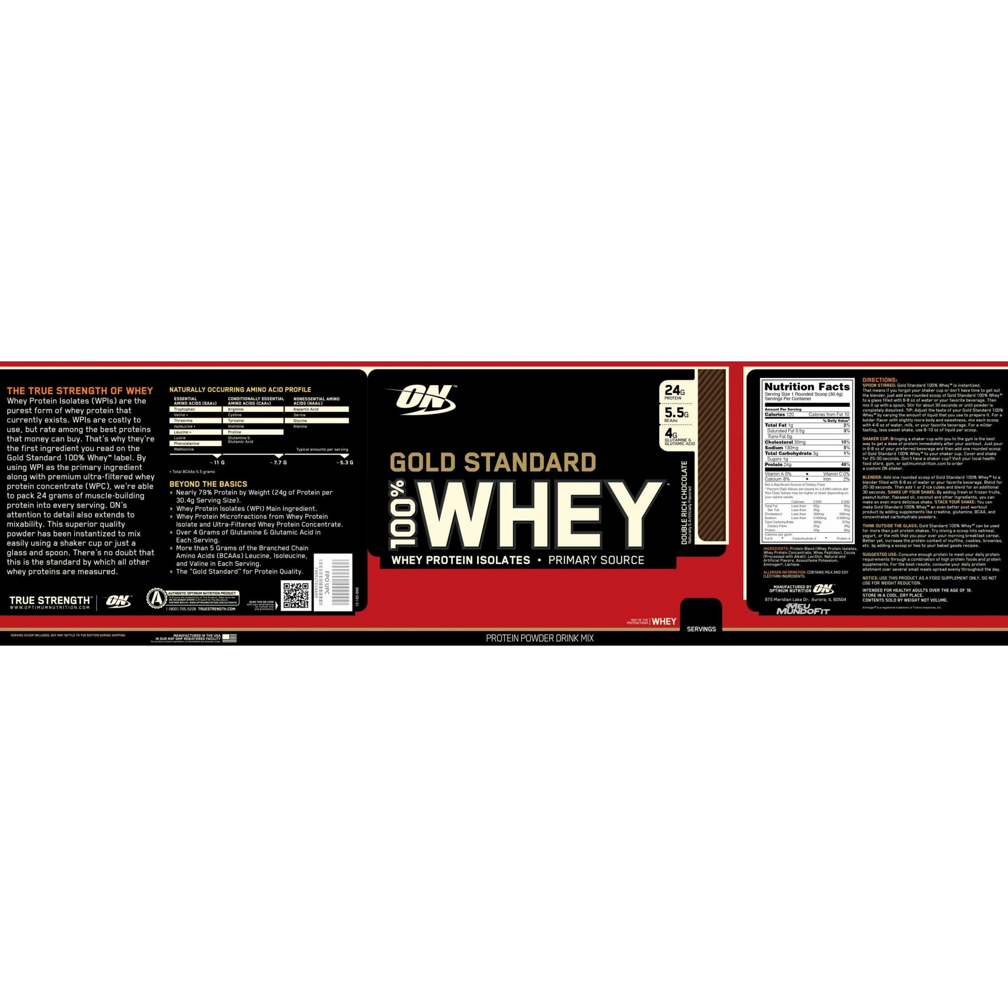 100% Whey Gold Standard (5Lbs/2.27g) - Optimum Nutrition