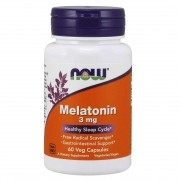 Melatonina 3mg (60 Veg Caps) - Now Foods