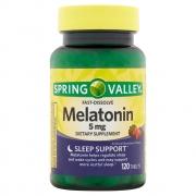 Melatonina 5mg (120 Tabs) Sublingual - Spring Valley (VENC: 09/2021)