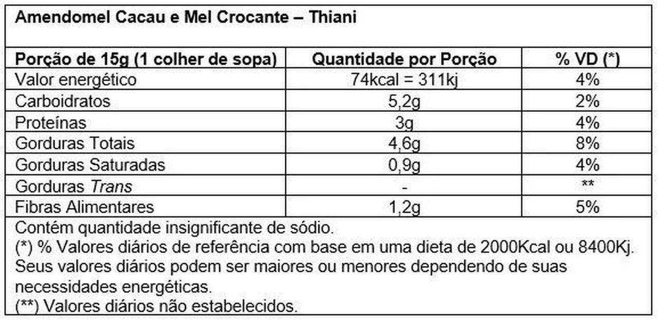 AmendoMel c/ Cacau (500g) - Thiani