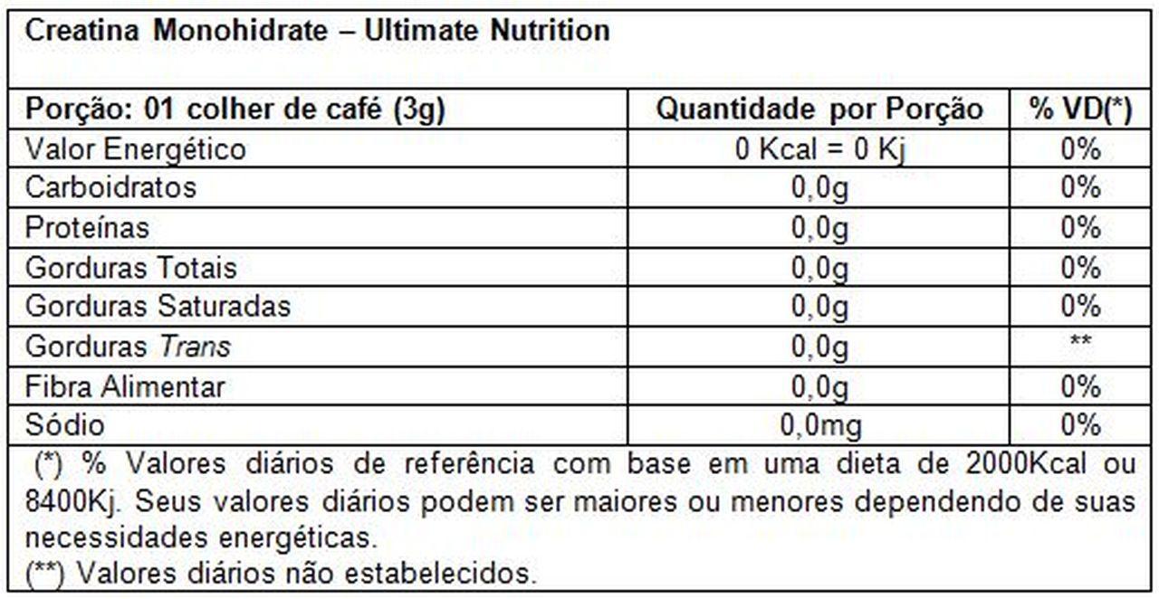 Creatina Monohydrate (300g) - Ultimate Nutrition