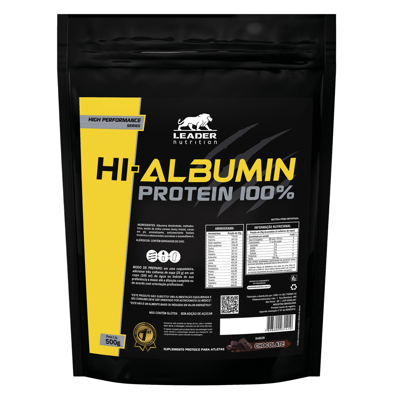 Hi-Albumin Protein 100% (500g) - Leader Nutrition