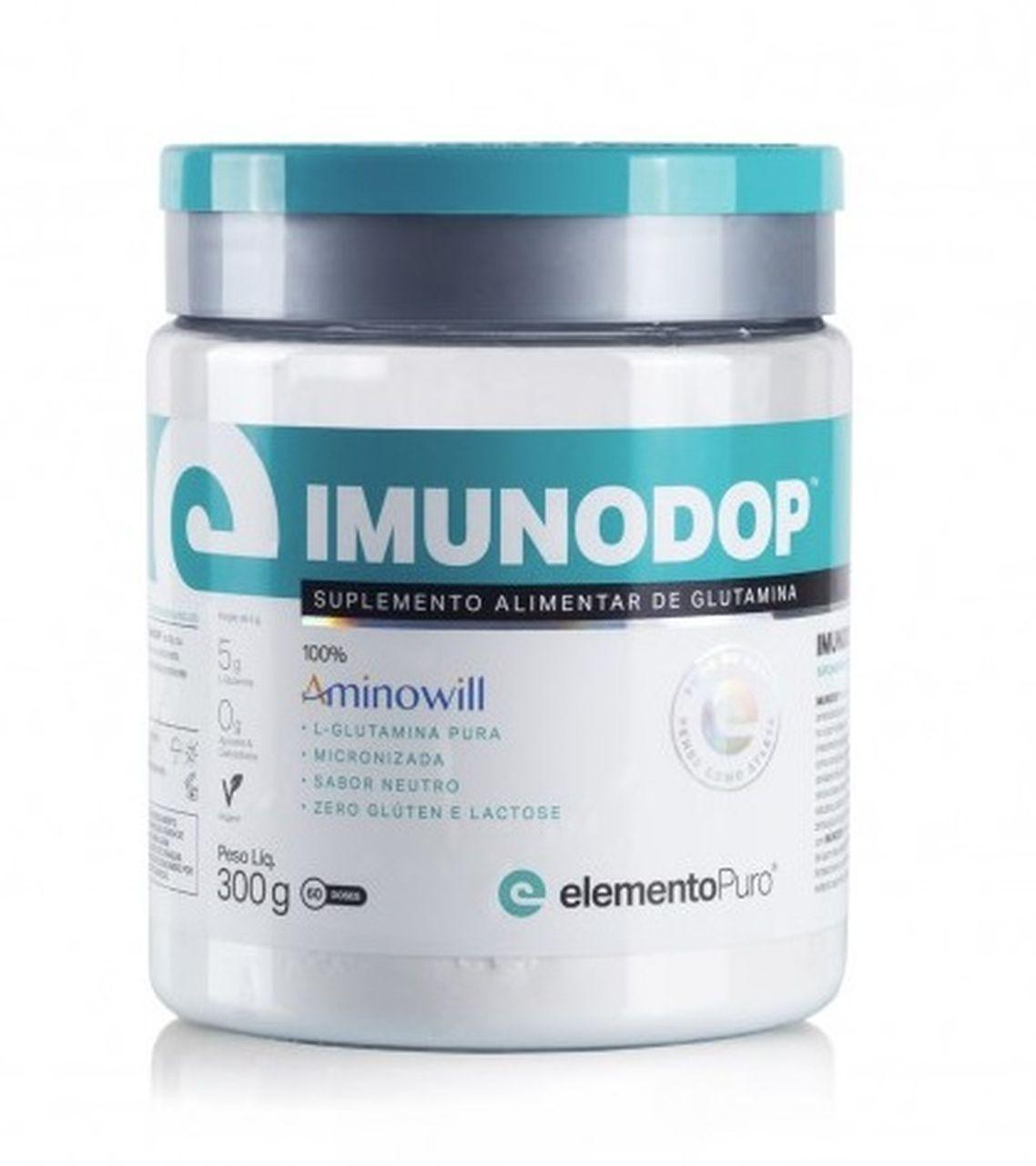 Imunodop Glutamina (300g) - Elemento Puro