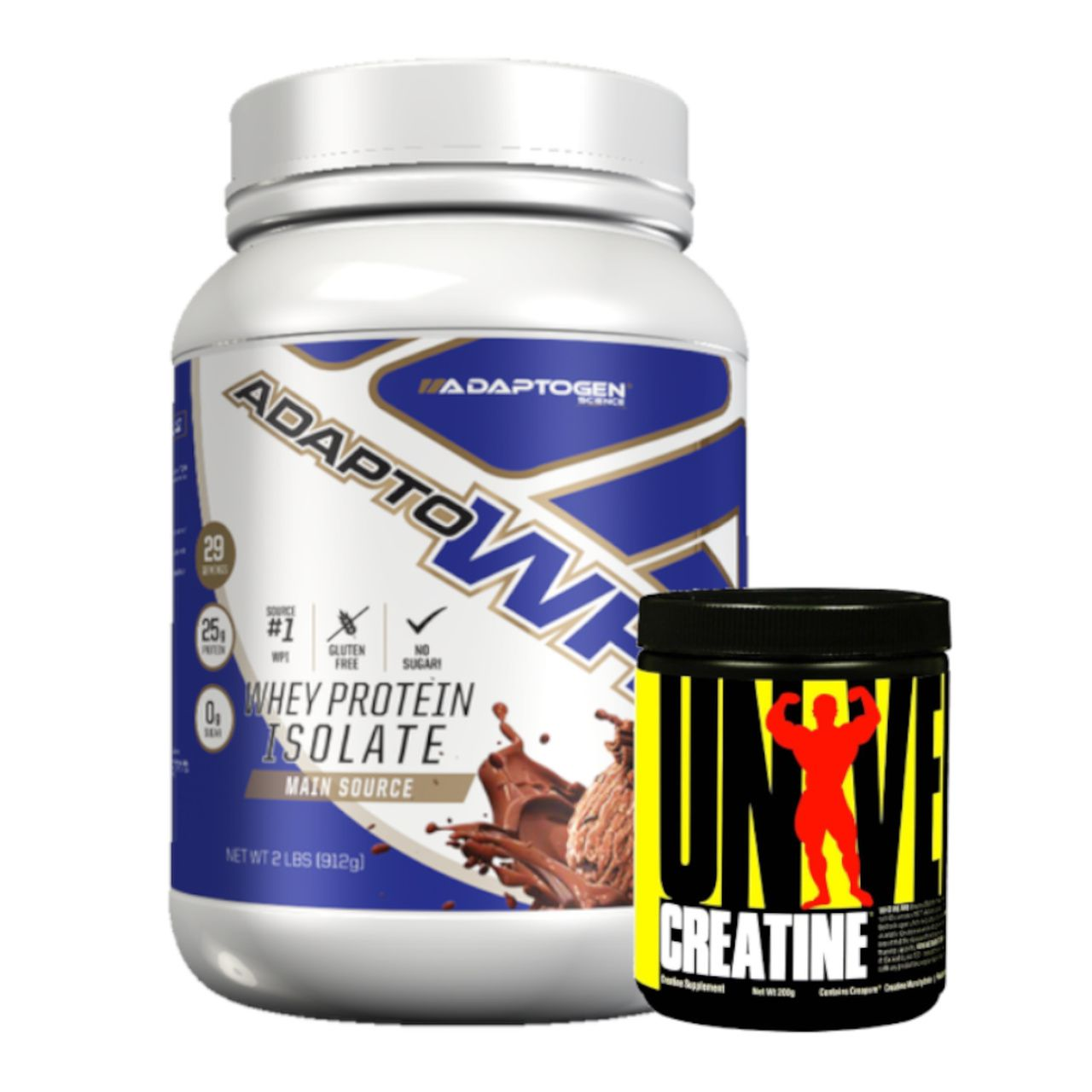 Kit Adapto Whey Isolado 900g + Creatina Universal 200g