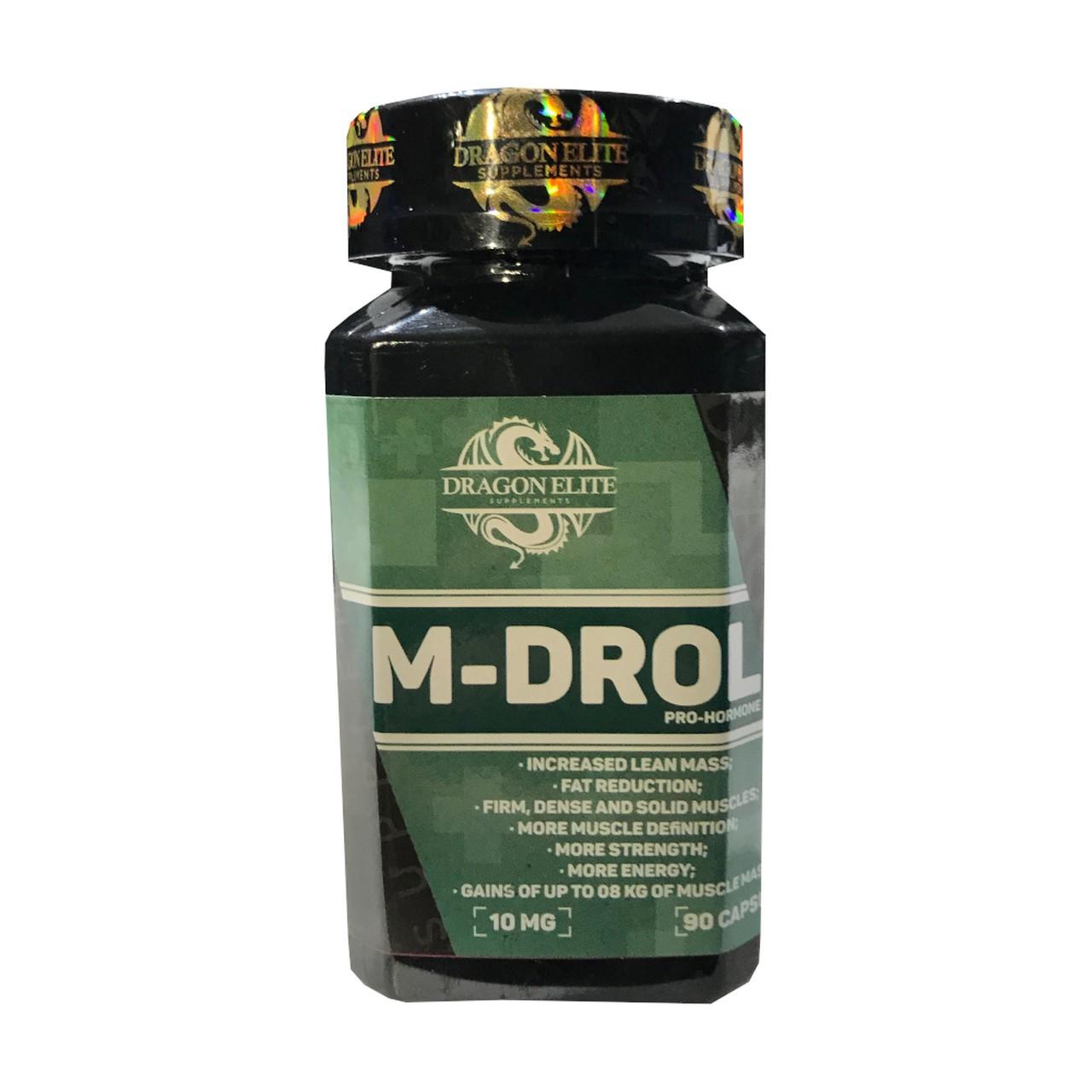 M-Drol 10mg Pró Hormonal (90 Caps) - Dragon Elite