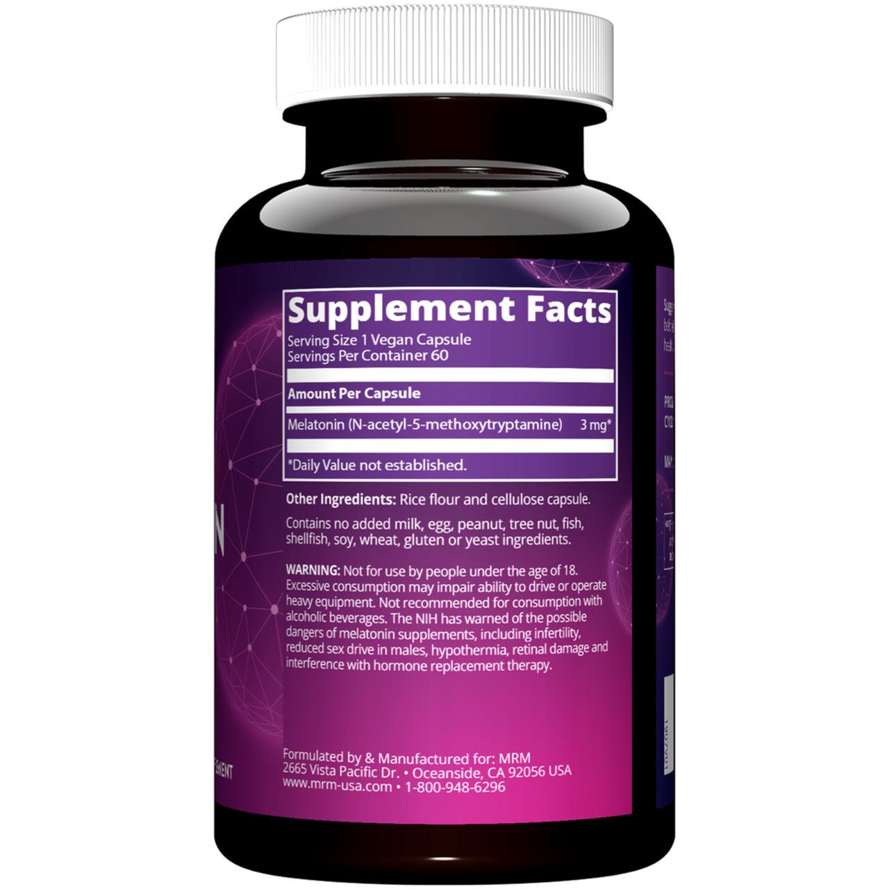 Melatonina 3mg (60 Veg Caps) - MRM Nutrition
