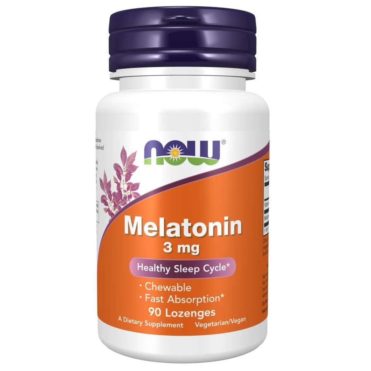 Melatonina 3mg (90 Pastilhas) - Now Foods