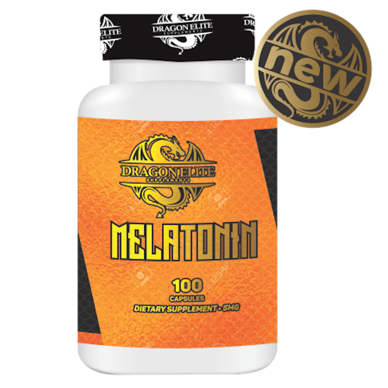 Melatonina 5mg (100 Caps) - Dragon Elite