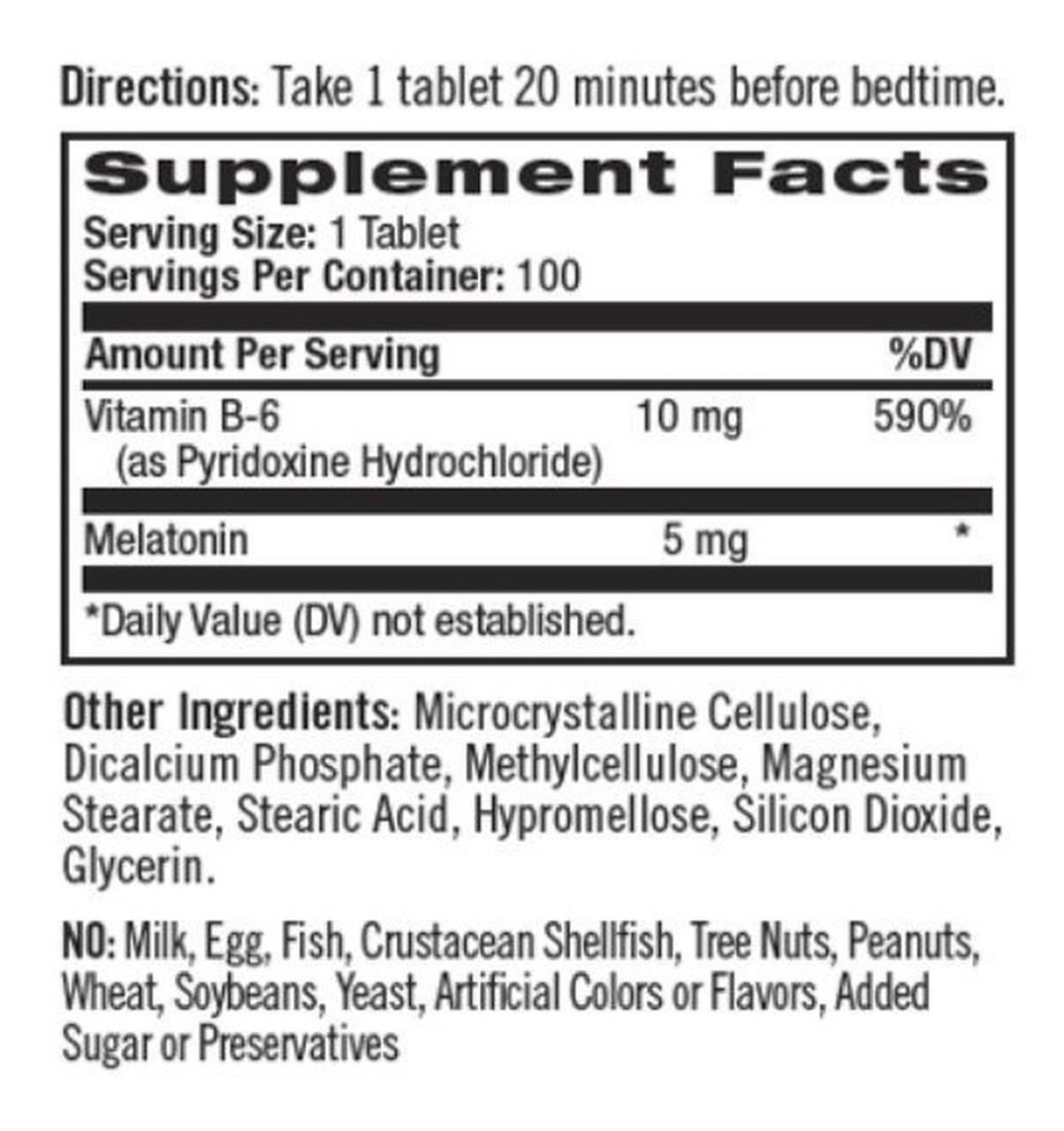 Melatonina 5mg (90 Tabs) - Natrol