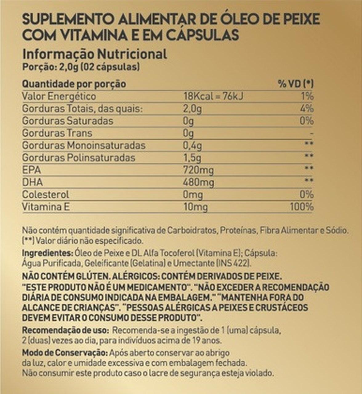 Ômega 3 True com Vitamina E (60 Caps) - True Source