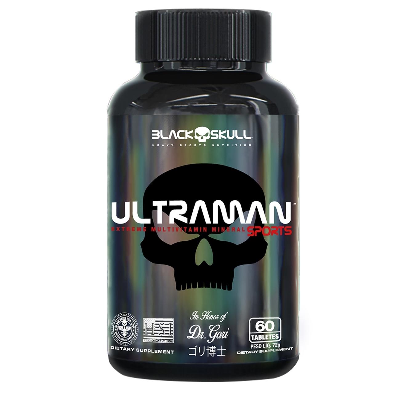 UltraMan Sports Multivitamínico (60 Caps) - Black Skull