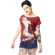 BLUSA FEMININA FULL PRINT DIAMOND GIRL