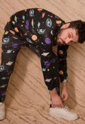 Blusa Moletom Galaxy Estampado Full Print Unissex Universal Roupas Tumblr